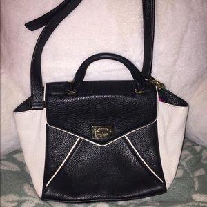 leather b&w Kate spade purse